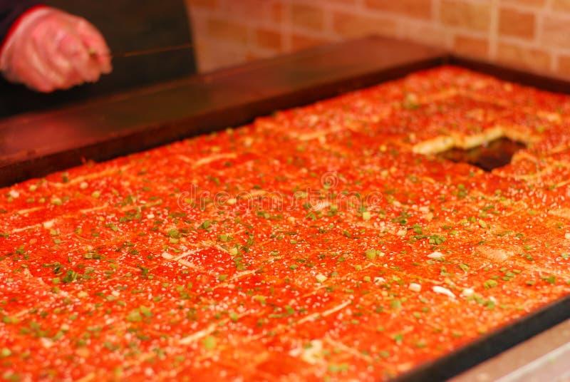 Chiński uliczny jedzenie - Toufu z spicys fotografia royalty free