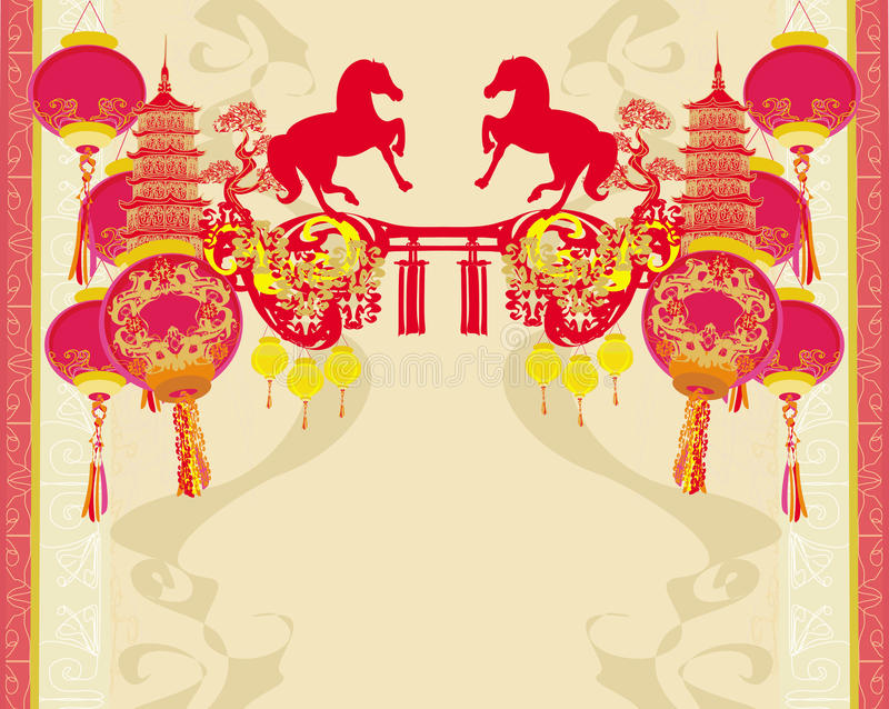 Chiński W połowie jesień festiwal, nowy rok i projektujemy element royalty ilustracja