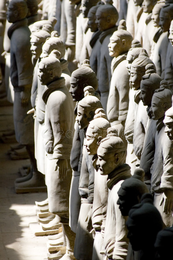 chiński wojownik cotta terra obrazy royalty free