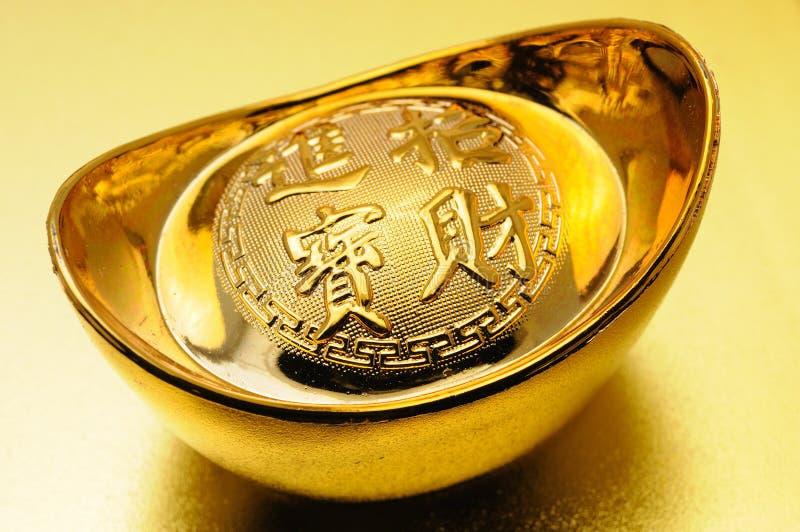 chiński złocisty ingot zdjęcia stock