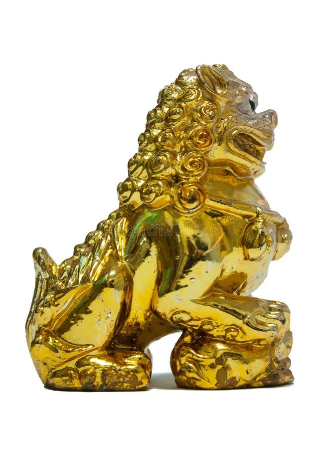 Download Chiński Złoty lew obraz stock. Obraz złożonej z strażnik - 53793739