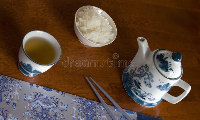 chiński zestawy tabeli posiłek zdjęcia royalty free