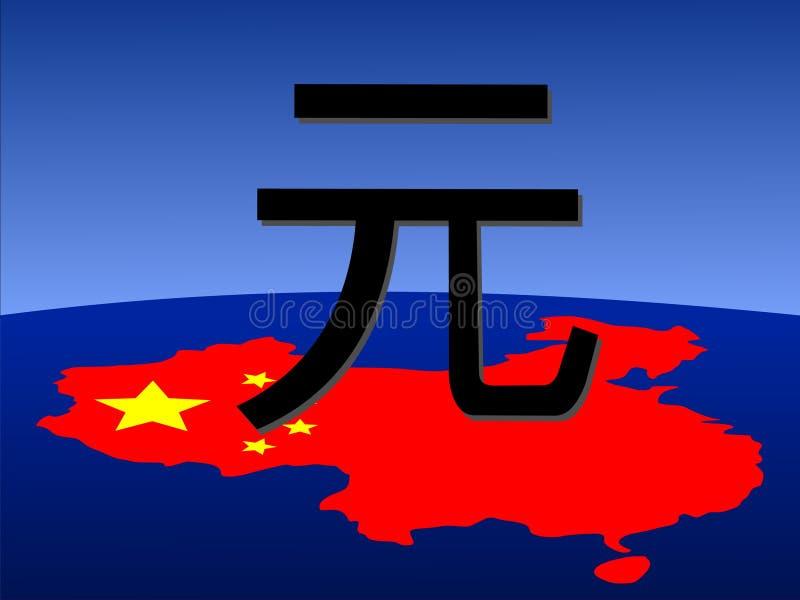 chiński znak Juan mapa ilustracji