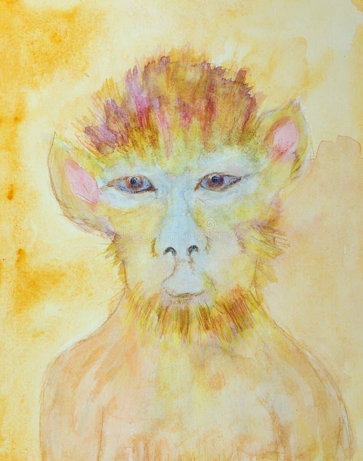 Chiński zodiak, rok małpa ilustracji