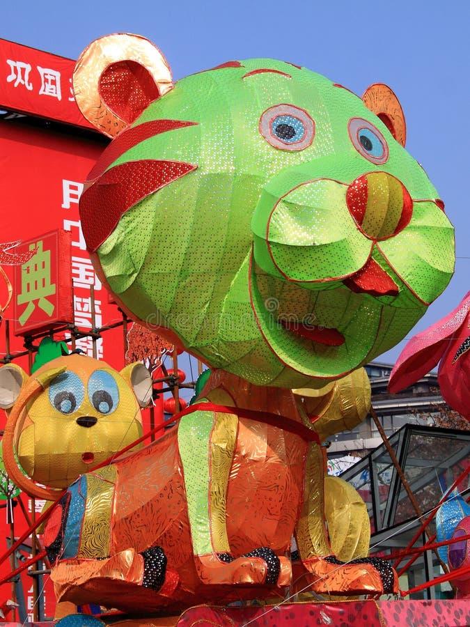 Chiński zodiak   Tygrysi lampion fotografia stock