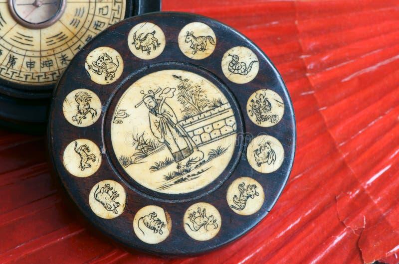 Chiński zodiaka koło obraz stock