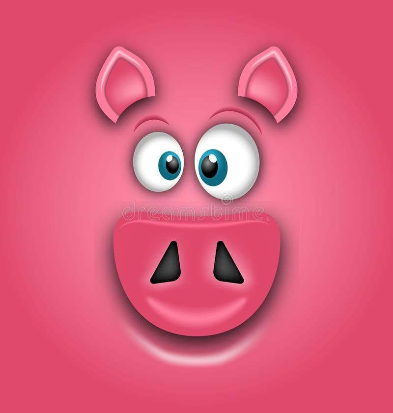 Chiński zodiaka znaka rok świnia, Szczęśliwy Chiński nowy rok 2019 ilustracja wektor