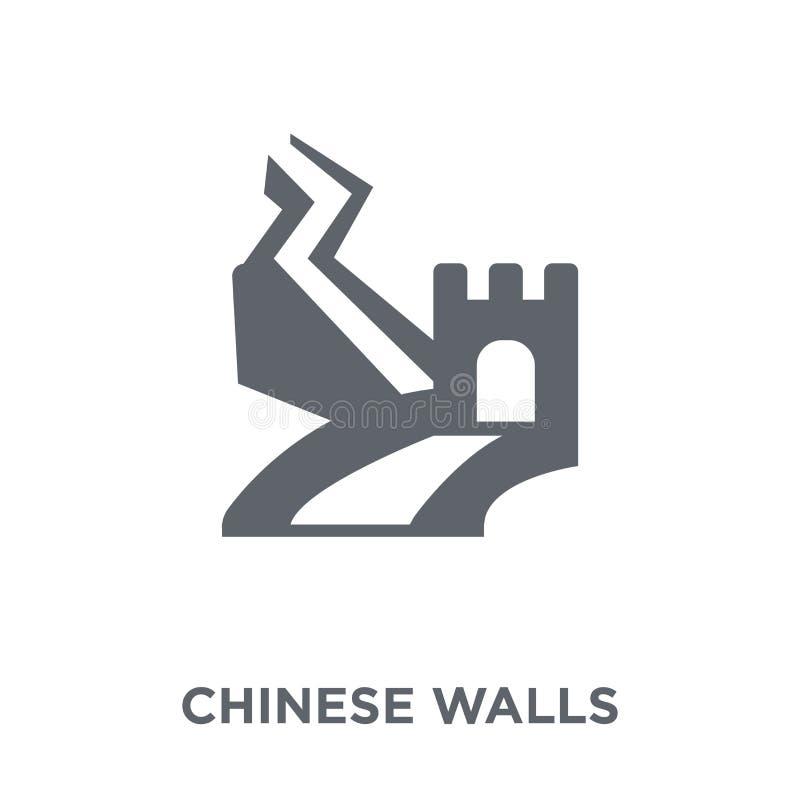 Chińskich ścian ikona od Chińskich ścian inkasowych ilustracja wektor