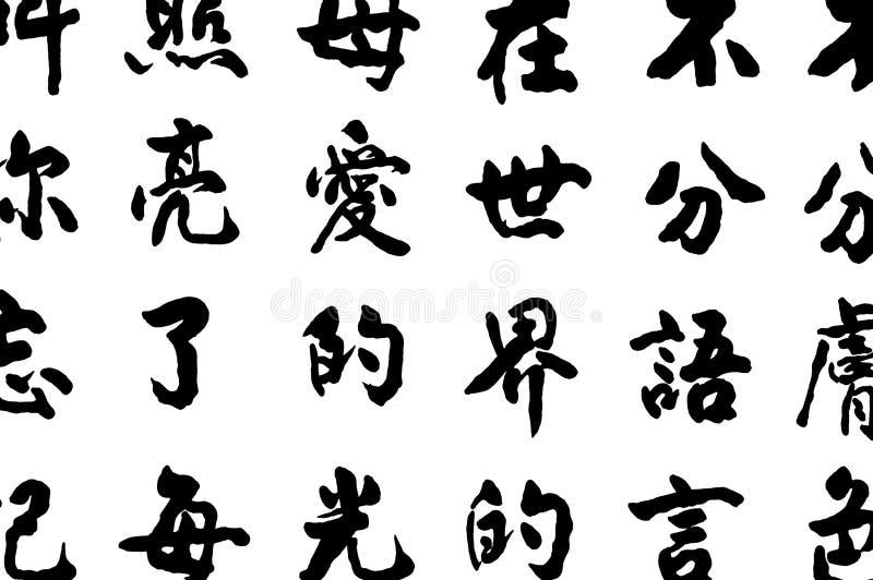 chińskich znaków royalty ilustracja