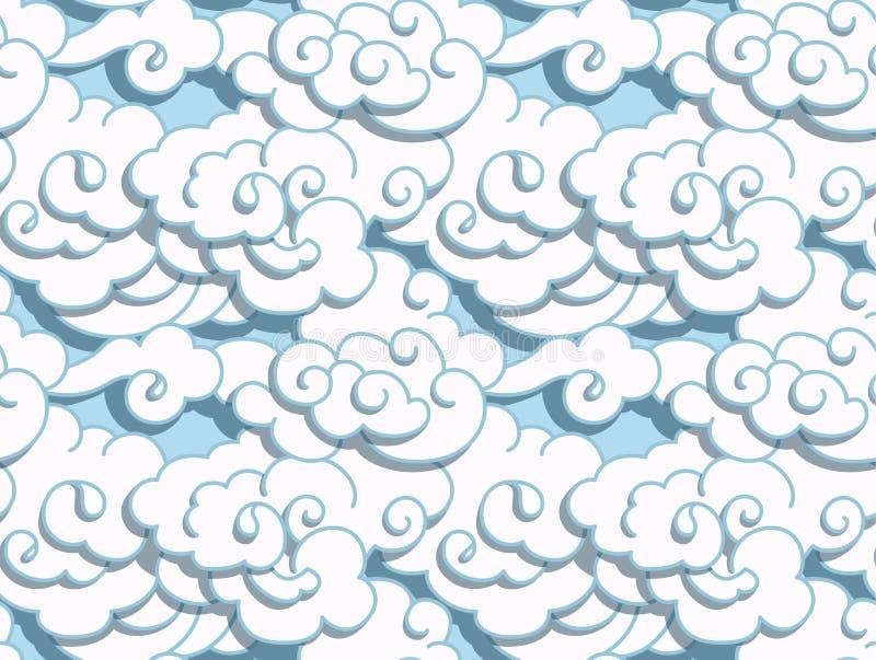 Chińskie chmury ilustracja wektor