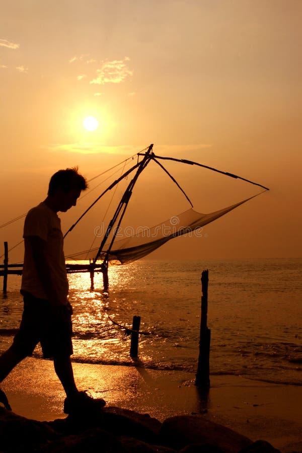 chińskie Cochin połowu fortu ind Kerala sieci zdjęcie stock