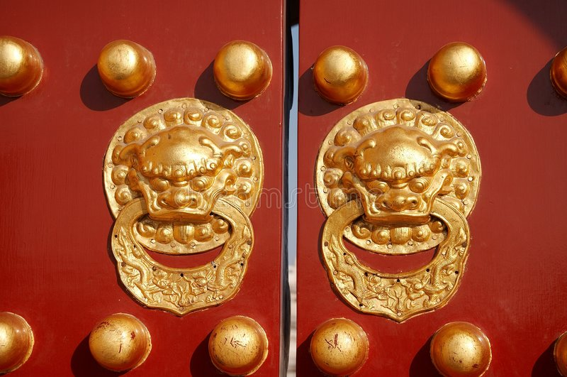 chińskie drzwi zdjęcia royalty free