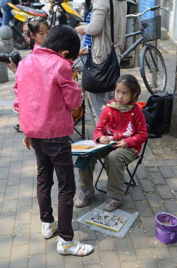 chińskie dzieci obraz stock