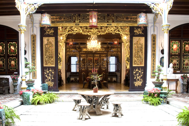 chińskie dziedzictwo domu patio fotografia royalty free