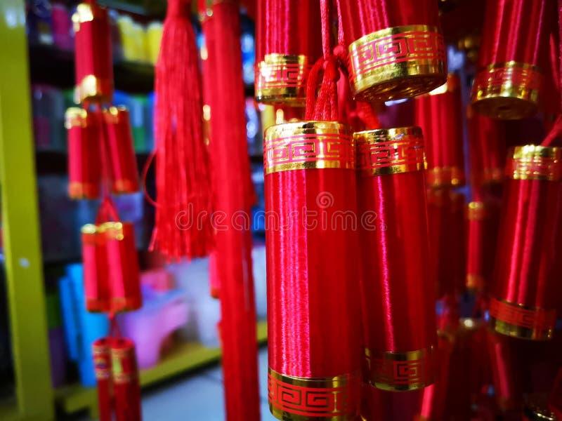 Chińskie petardy na Chińskim nowego roku i dodatku specjalnego świętowaniu obrazy stock