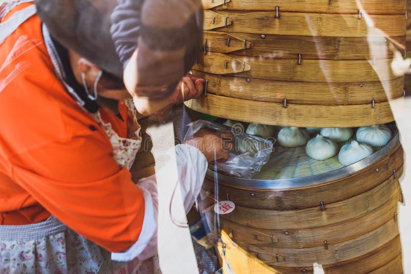 chińskie pierogi parze fotografia stock
