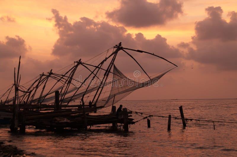 chińskie sieci rybackich obraz royalty free