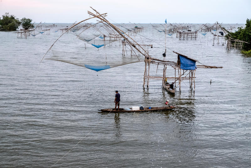 chińskie sieci rybackich zdjęcia stock