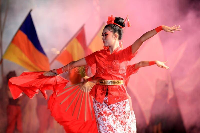 chińskie tancerki zdjęcia royalty free