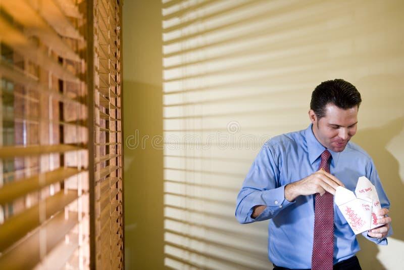 chińskiego łasowania męski biurowy pracownik obrazy stock