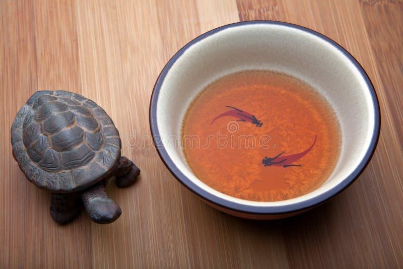 Chińskiego ceramicznego żółwia ilości pracowniany światło obrazy royalty free