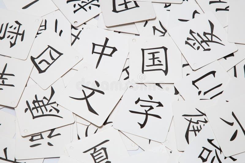 Chińskiego charakteru karty obrazy stock