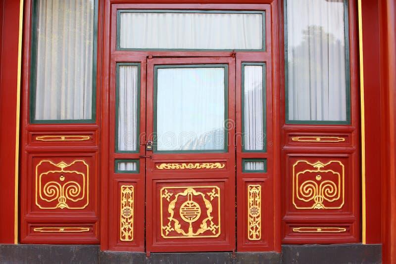 chińskiego klasyka drzwi zdjęcia royalty free