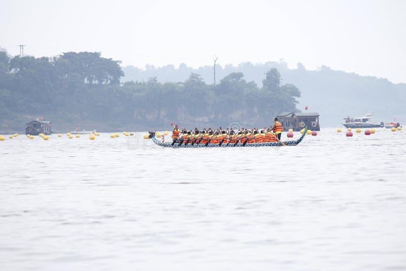 Chińskiego kultury â€' smok łódkowata rasa obrazy royalty free