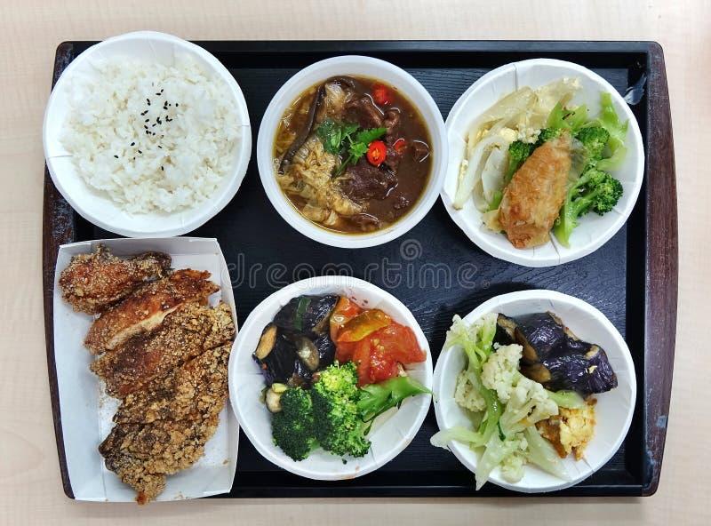 Chińskiego lunchu Ustalony menu zdjęcia royalty free