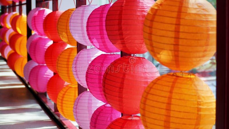 Chińskiego nowego roku kolorowi lampiony sunshiny obrazy stock