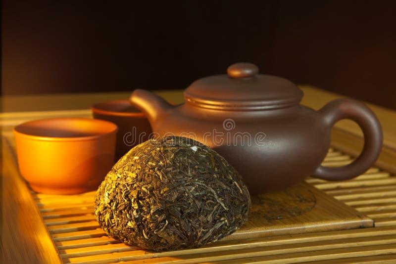 chińskiego puer ustalona herbata obrazy royalty free