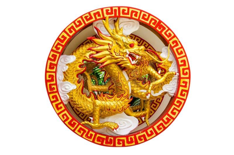 Chińskiego stylu smoka statua zdjęcie royalty free