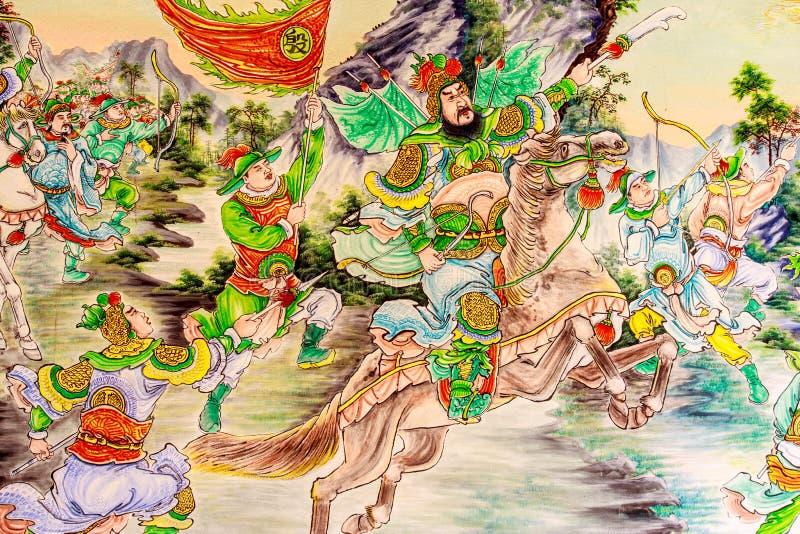 Chińskiej ściany farba obrazy stock
