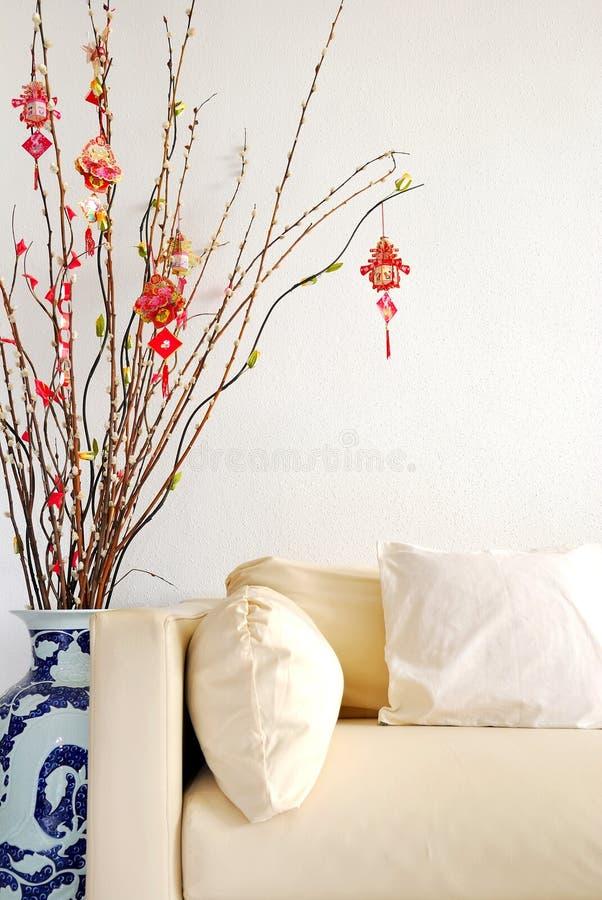 chińskiej dekoraci księżycowy nowy rok obraz stock