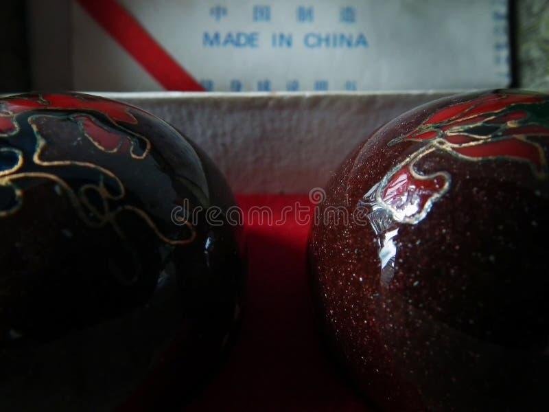Chińskiej medycyny piłki obraz royalty free