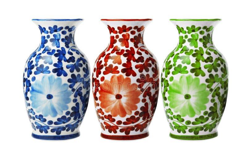 Chińskiej porcelany Kwieciste wazy obrazy stock