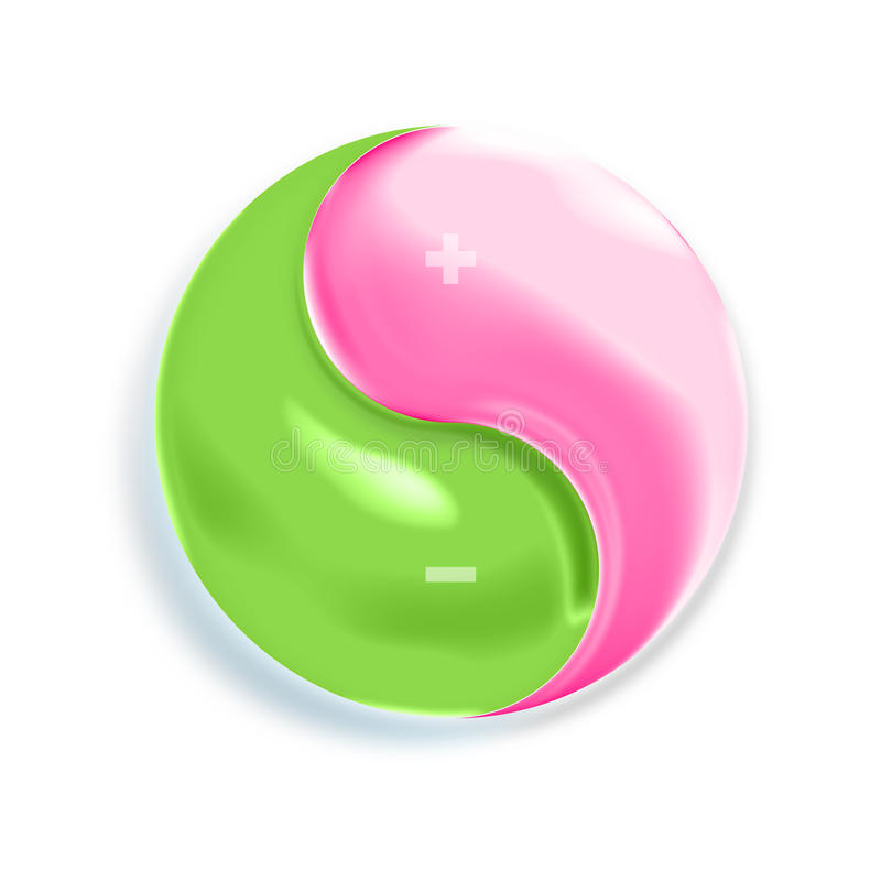 chi εικονίδιο tai yang yin απεικόνιση αποθεμάτων