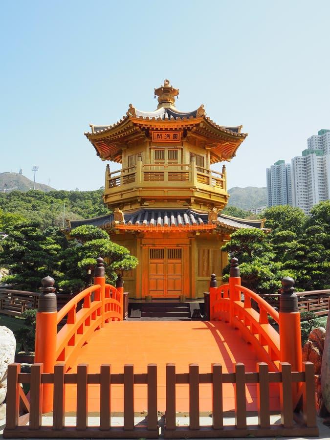 Chi μονή καλογραιών της Lin, Χονγκ Κονγκ, Κίνα στοκ φωτογραφία