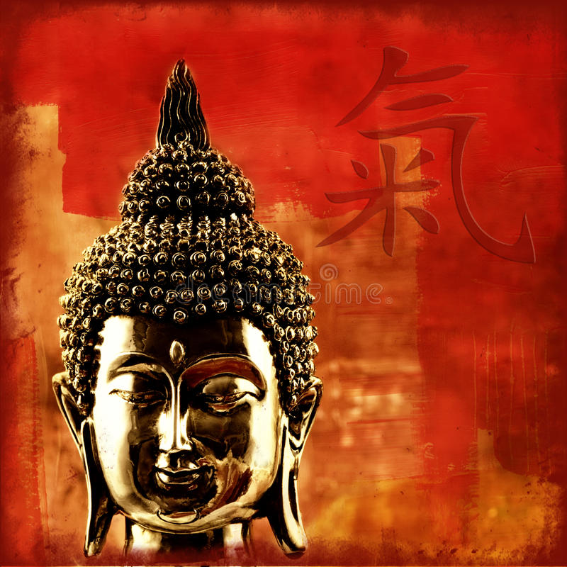 chi του Βούδα διανυσματική απεικόνιση