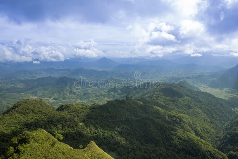 Chi Dao de Phu de voyage au voyage étonnant de la Thaïlande/montagne et du ciel image libre de droits