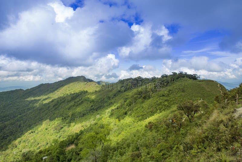 Chi Dao de Phu de voyage au voyage étonnant de la Thaïlande/montagne et du ciel photos libres de droits