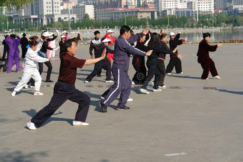 Chi de Tai le matin, Chine photo stock