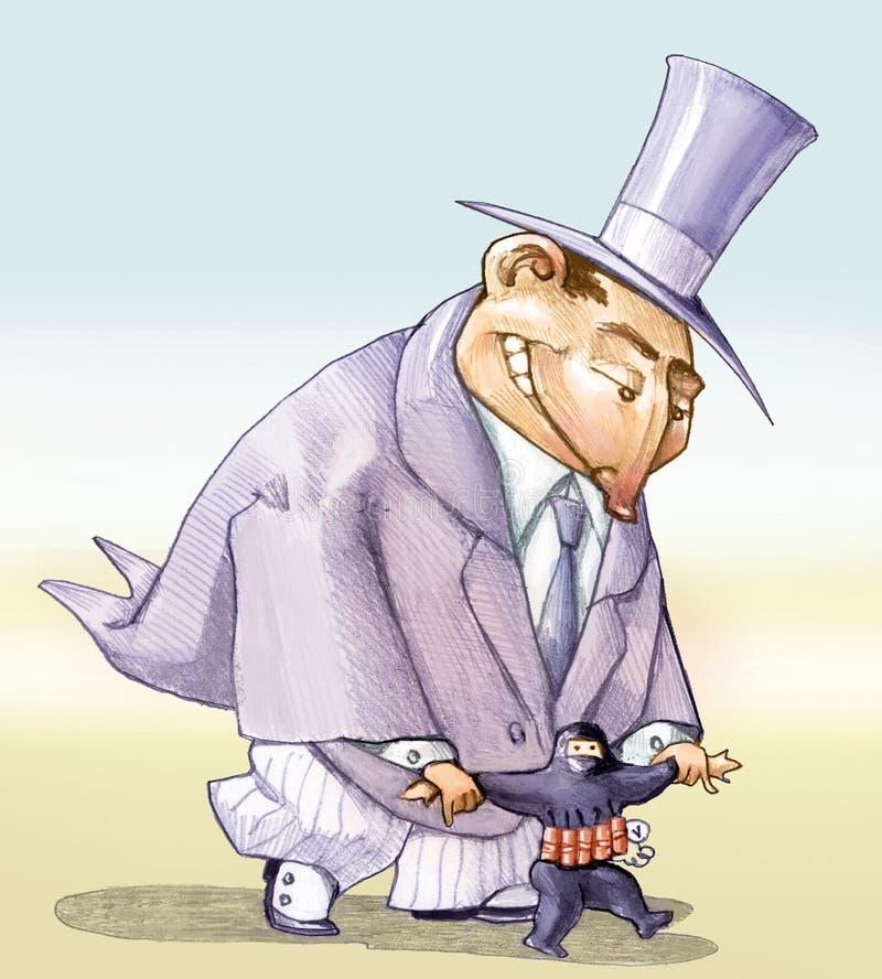 Chi finanzia il terrorismo royalty illustrazione gratis