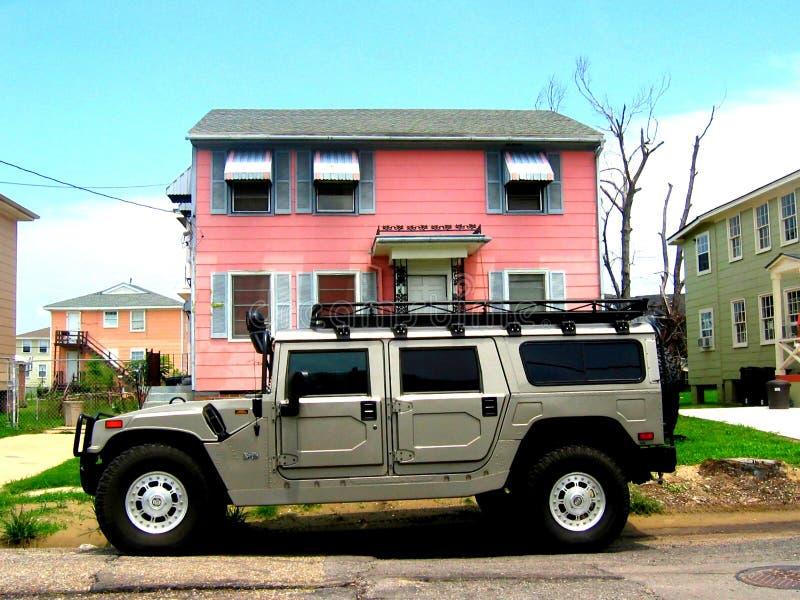 Chi ha parcheggiato davanti alla mia casa? fotografia stock libera da diritti