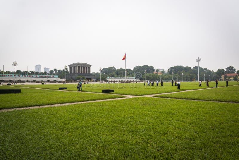 chi Hanoi ho mauzoleumu minh Vietnam fotografia stock