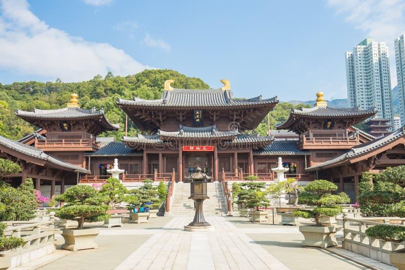 Chi lin Klooster in Hong Kong, China stock foto