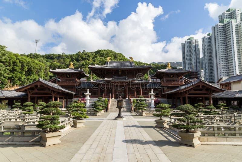 Chi lin Klooster in Hong Kong, China royalty-vrije stock foto's