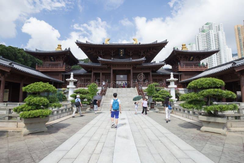 Chi lin Klooster, Tang-de tempel van de dynastiestijl, in Hong Kong, China royalty-vrije stock afbeeldingen