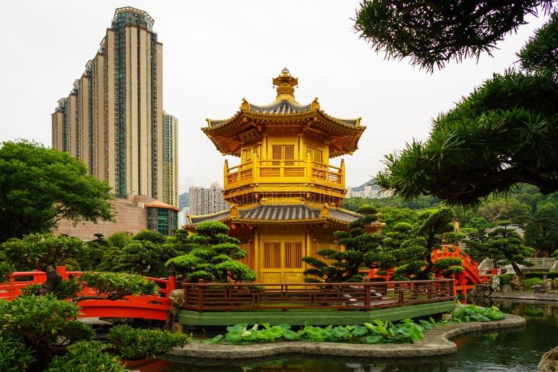 'chi' Lin Nunnery - colline di Diamon, Hong Kong fotografie stock libere da diritti