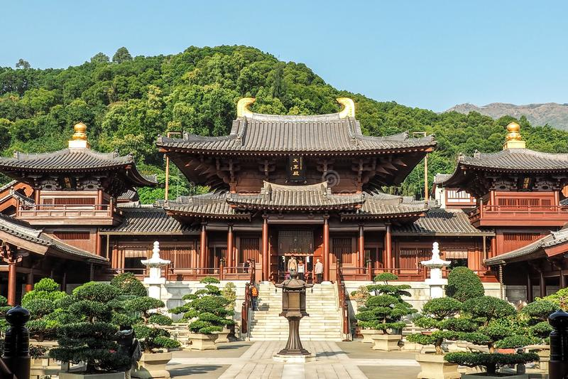 Chi Lin Nunnery in Diamond Hill District van Hong Kong, China stock afbeelding